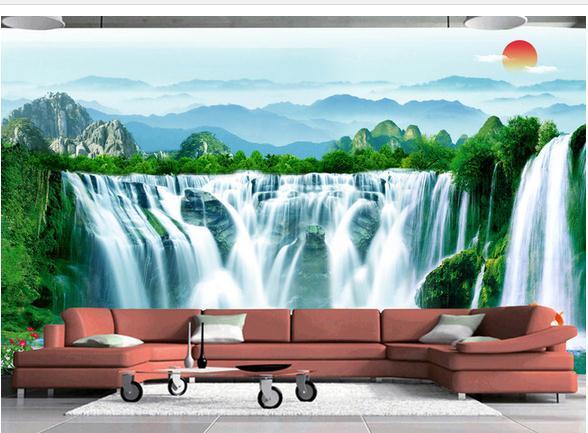 custom 3d wallpaper 3d wall mural wallpaper traditional chinesecustom 3d wallpaper 3d wall mural wallpaper traditional chinese painting landscape waterfalls running water generative wallpaper