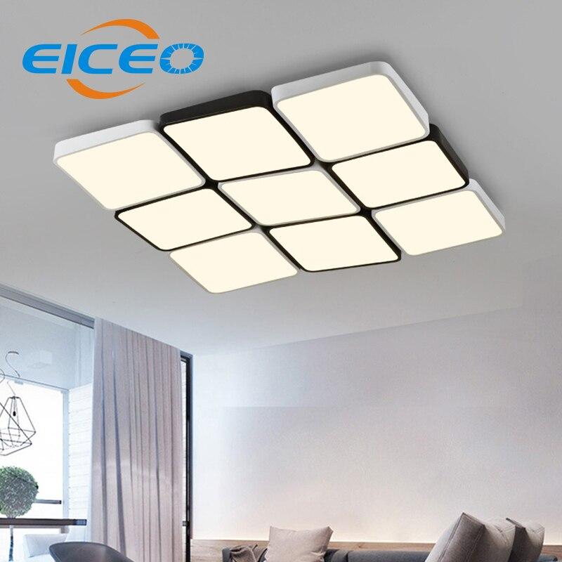 LED ceiling lamp rectangular modern minimalist ultra-thin living room lighting personalized creative bedroom