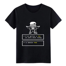 undertale sans t shirt Designs 100% cotton Crew Neck Pattern Crazy Breathable Summer Style Vintage