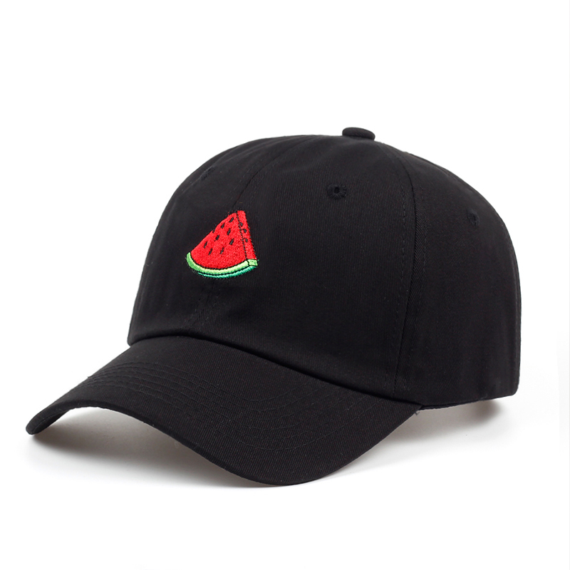new Summer Baseball Cap Men Women Watermelon Embroidery Dad Hat Hip Hop Snapback Hats Casual Couple Lover Trucker Caps Visor 2018 cc denim ponytail baseball cap snapback dad hat women summer mesh trucker hats messy bun sequin shine hip hop caps casual