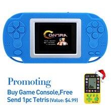 O Envio gratuito de 2.4 Polegada Retro 8bit Jogo Handheld Jogador Portátil Do Jogo Console 218 Jogos De Vídeo Game Console para Caçoa o presente