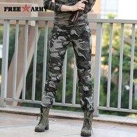 Kobiety Dorywczo Spodnie Letnie Plus Size Jogger Spodnie Wojskowe Camouflage Spodnie Damskie Slim Fit Kobiet Bawełniany Śliczny Gk-9522B Capris