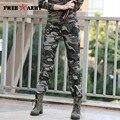 Mulheres Calça Casual Verão Plus Size Mulheres Militares de Camuflagem Calças Slim Fit Calças de Algodão Elegante Gk-9522B Corredores Para As Mulheres