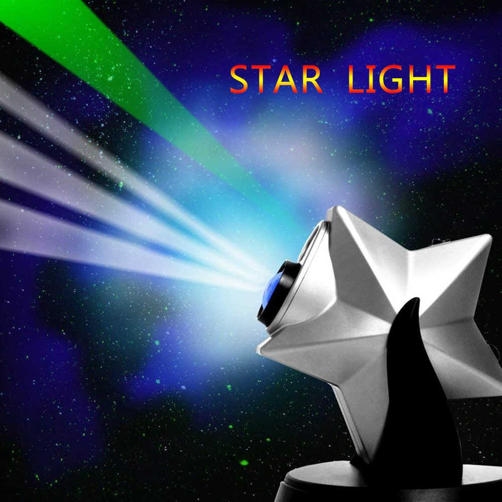 270 תואר מסתובב לייזר דמדומים כוכבים הולוגרמה של מקרן כוכבים, ערפילית Galaxy הקרנה