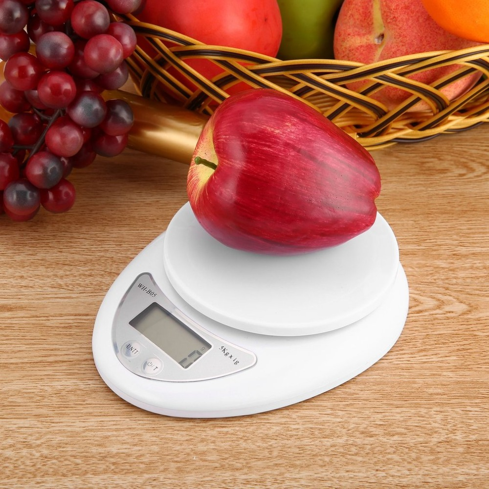 5kg 5000g/1g Digital Kitchen Scale Food Diet Postal Scales Electronic Weight Scales Balance Weighting LED Electronic WH-B05