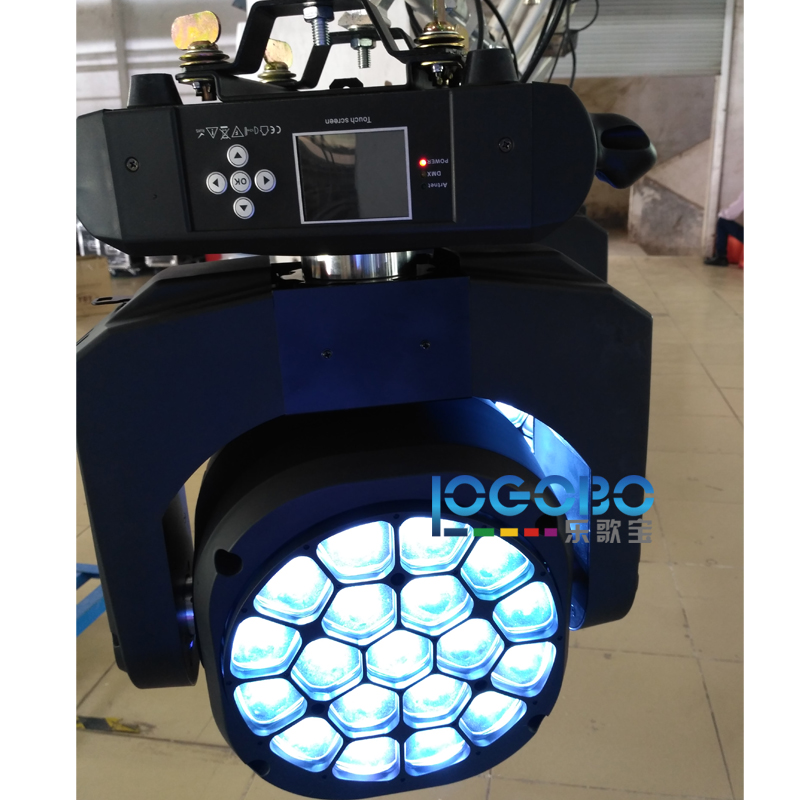 Pack of 8 LED Big Bee Eyes Zoomable Moving Head Stage DJ Light 19x15W RGBW 4in1 Beam Wash DMX Vertox Bar Disco Party Lightings