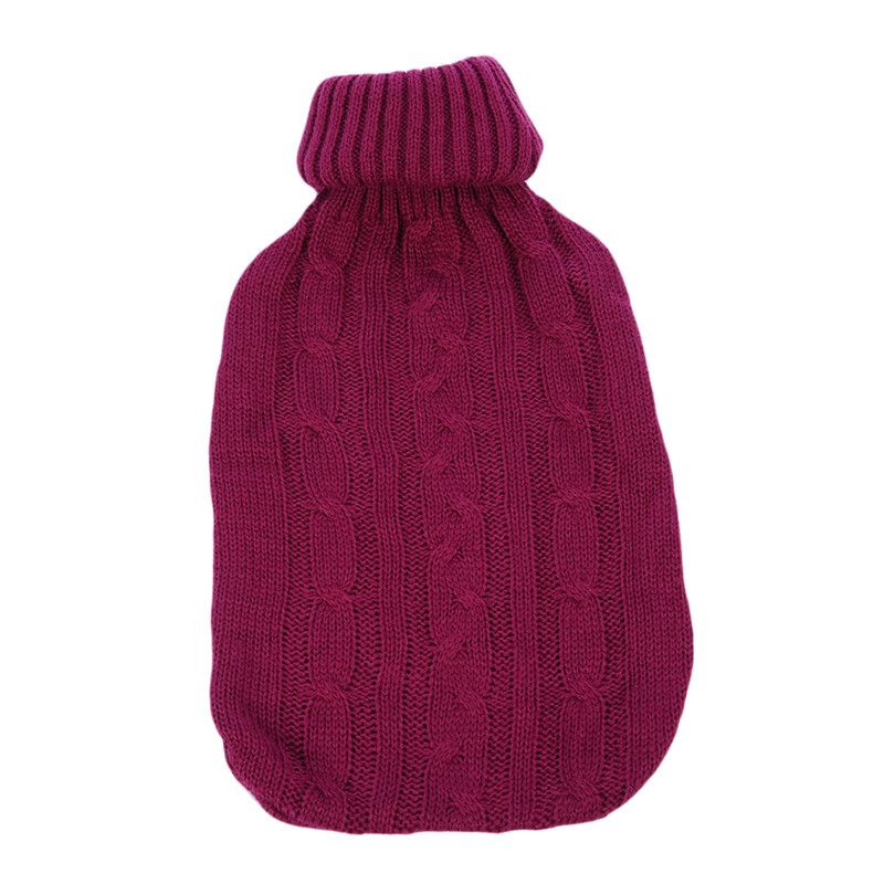 2000ml Large Knitted Hot Water Bag Cover Warm Cold-proof Heat Preservation Hot Water Bottle Cover