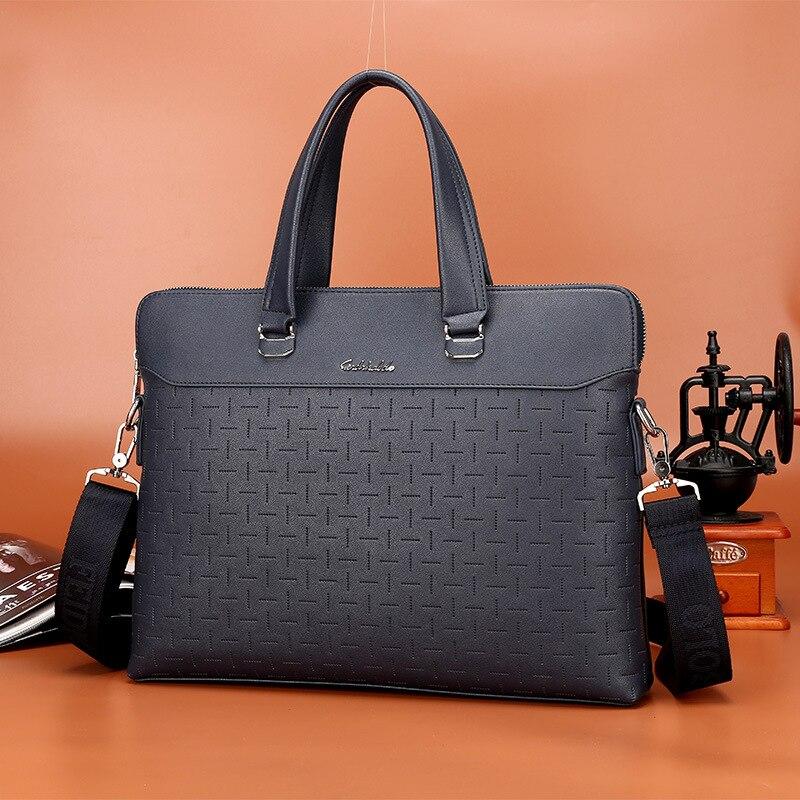 2019 New Men Leather Handbag Business Portable Document Laptop Bags For Men Messenger Bag Men's Leather Briefcases