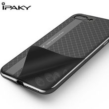 For Apple iPhone 7 Case Original IPAKY Defender Case TPU+PC Hybrid Armor Hard Protect Cover For iPhone 7 8 Plus 5.5 Phone Cases textured leather coated tpu pc hybrid phone shell for iphone 7 4 7 with tactile buttons coffee
