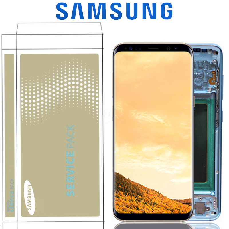 Original S8 Plus G955F G955 Display Screen For SAMSUNG Galaxy S8 G950F LCD Touch With Digitizer