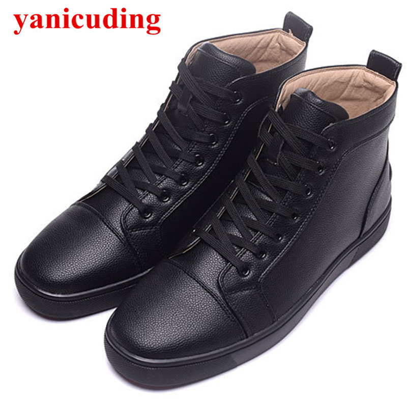 High Low Top Shoes Fashion Lace-up Black Snake Printed Leather Casual Shoes Unisex Mens Shoes Outdoor Nice Flats Students Shoes new fashion unisex high top casual shoes for men pu leather lace up white black color mens high top shoes