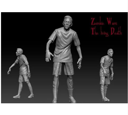 1/35 ancient fantasy Zombie Series Jogger Resin figure Model kits Miniature gk Unassembly Unpainted image