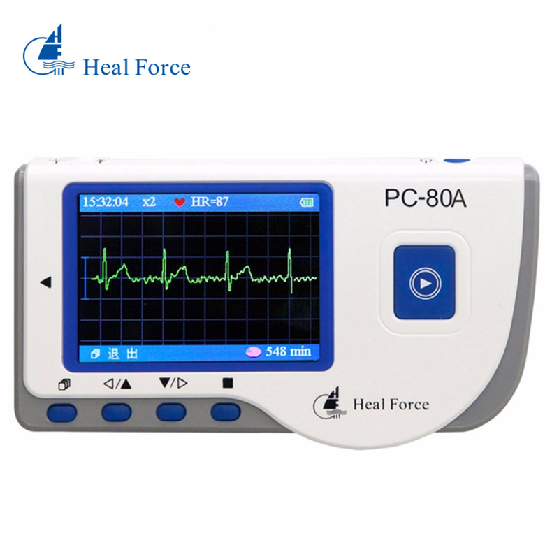 Heal Force PC 80A Easy Handheld Monitor Tester Portable LCD Heart Health USB Continuous Measuring Function