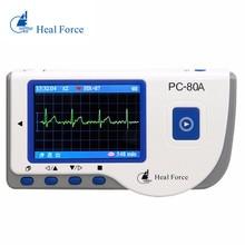 Heal Force PC-80A fácil mano probador del Monitor LCD portátil de la salud del corazón USB continua función de medición de cuidado de la salud