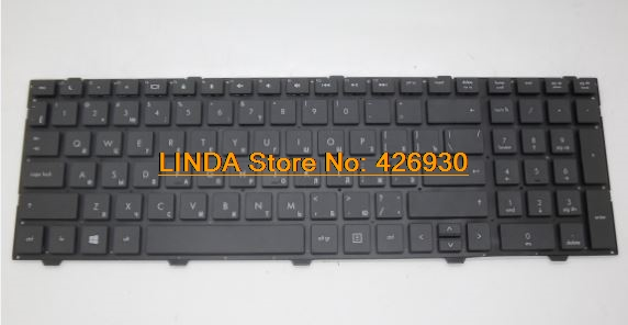 RTDpart Laptop keyboard for HP 4540S 4545S black without frame RU-Russian 9Z.N6MSW.30R 701485-251 NSK-CC3SW