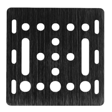 3D Printer Part V-Slot Gantry Plate 20Mm Black Sand Blasting 65.5Mmx65.5Mmx3Mm