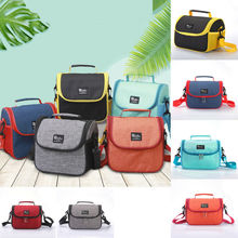 New Fresh Insulation Cold Bales Thermal Oxford Lunch Bag Waterproof Convenient Leisure Cute Flamingo Cuctas Tote 1PC