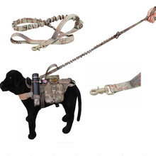 Military Tactical Hunting Dog leash Air-soft sports paintball gear Law enforcement Dog training accessories 9 Color be choose