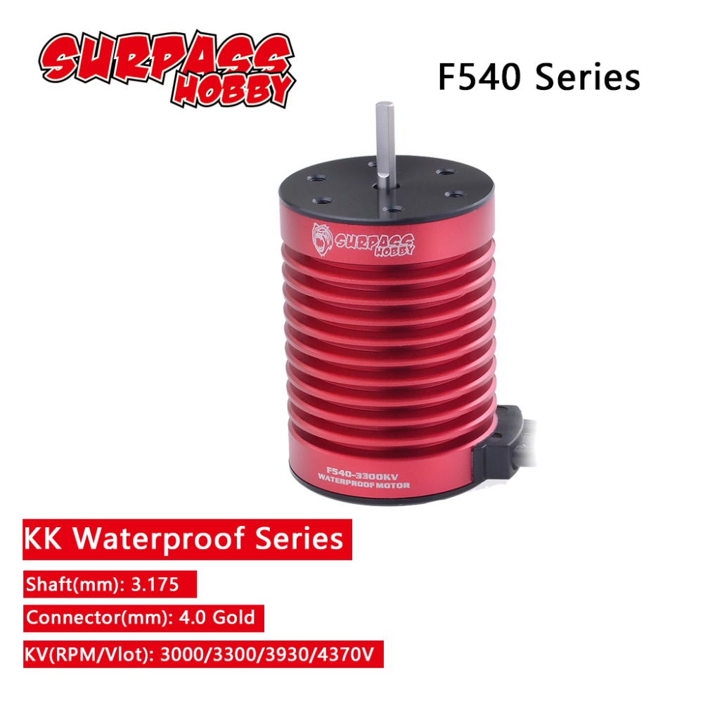 F540 3.175mm Brushless Motor 3000KV 3300KV 3930KV 4370KV for 1/10 RC Tamiya Axial Redcat HSP Drift Racing Off road Car-in Parts & Accessories from Toys & Hobbies