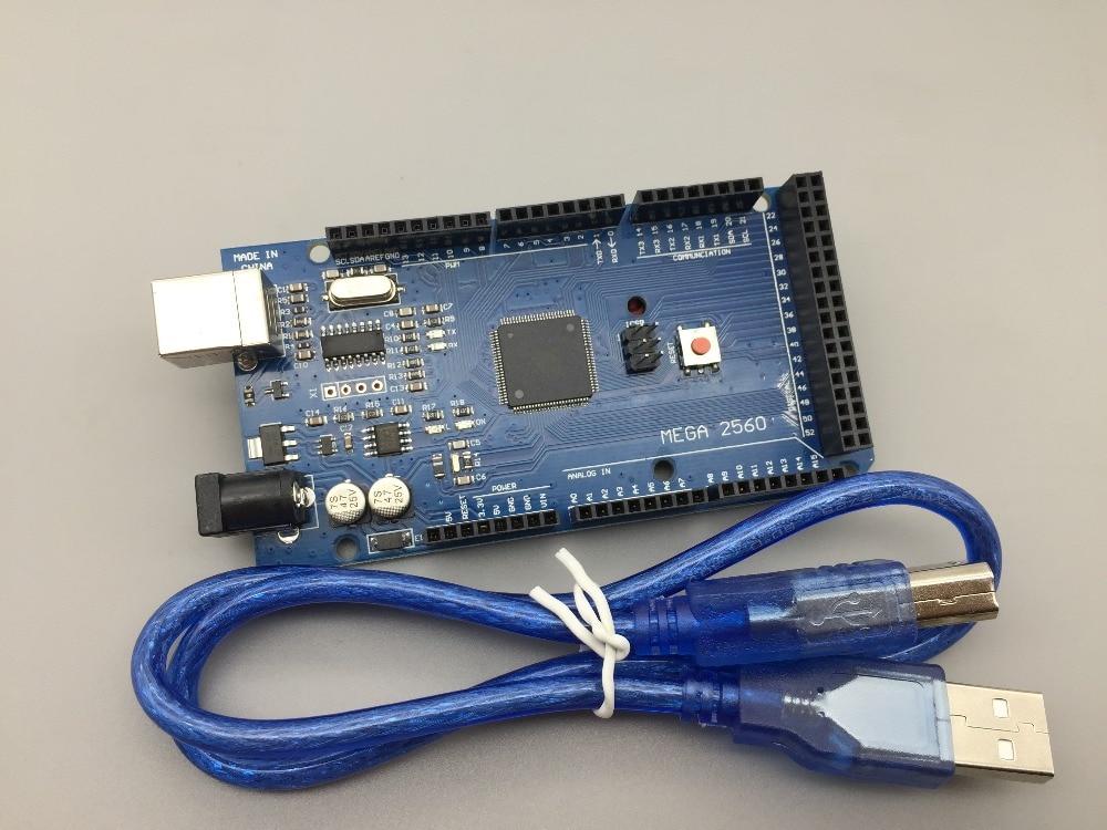 Livraison gratuite Mega 2560 R3 Mega2560 REV3 Conseil ATmega2560-16AU + Cable USB compatible pour arduino Mega 2560 r3