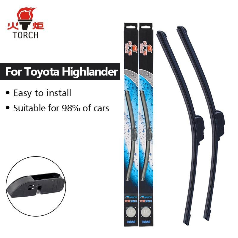 TORCH Wiper Blades for Toyota Highlander 2000 2001 2002 2003 2004 2005 2006 2007 2008 2009 2010 2011 2012 2013 2014 2015 2016