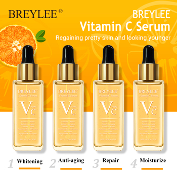 BREYLEE Vitamin C Serum Whitening Face Skin Care 40ml Dark Spots Repair Hyaluronic Acid Moisturizing Anti