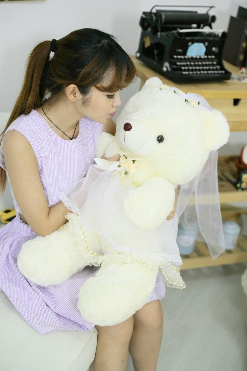 2pcs/pair 70cm Couple Bear Wedding Teddy Bear Plush Toys Wedding Gift Christmas Gift Wholesale New Arrival Hot Sale 2018 wedding teddy bear 36 cm mr lin wedding bear forever love
