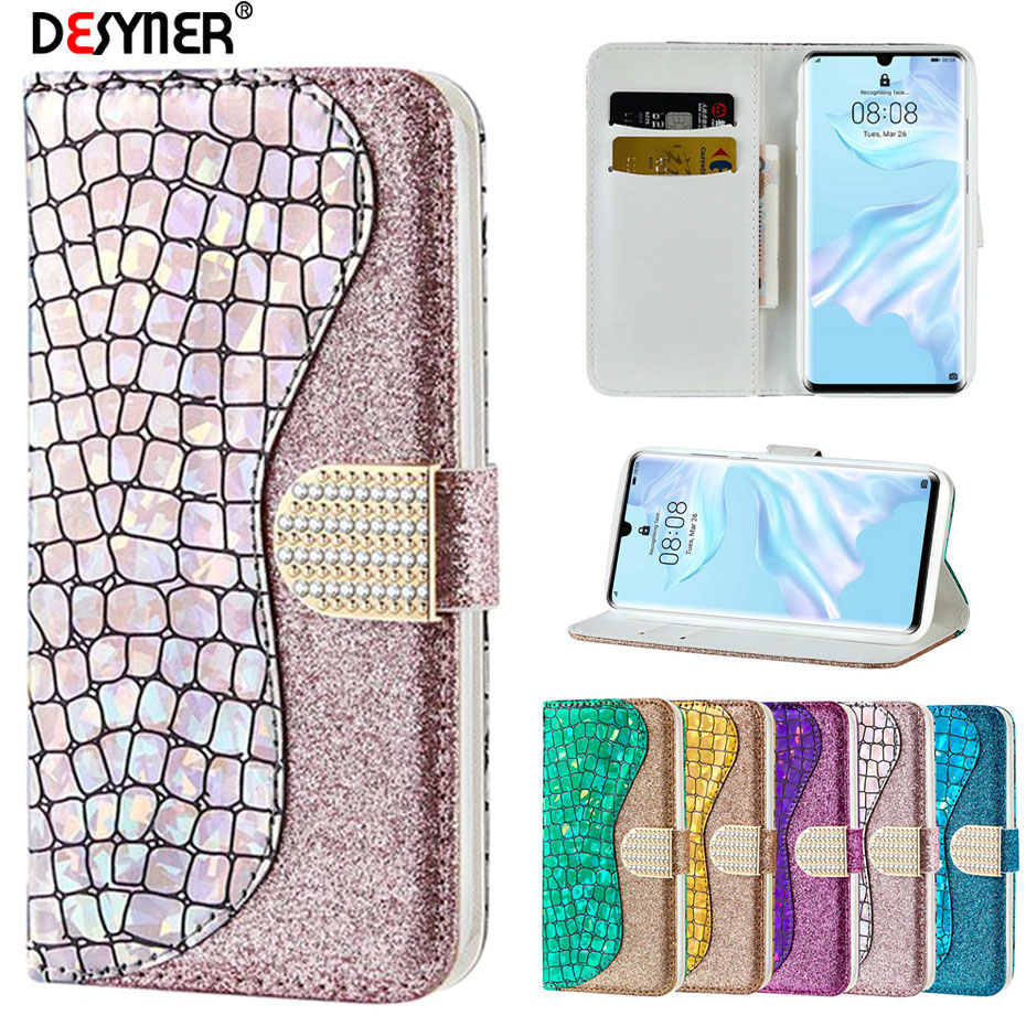 Glitter Bling <font><b>Flip</b></font> <font><b>Case</b></font> for <font><b>Huawei</b></font> P30 P20 Pro Mate20 Lite Nova 3i Leather <font><b>Case</b></font> for <font><b>Huawei</b></font> <font><b>P</b></font> <font><b>smart</b></font> 2019 Y5 <font><b>2018</b></font> Y6 2019 Cover image