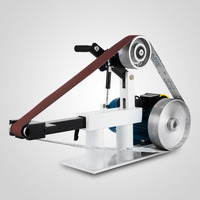 Constant Speed 2 X 82 2800r/Min Grinder Ph 427 X 12 Wheel & Flat Platen Tool Rest 2 Hp 220 Volt Belt Grinder
