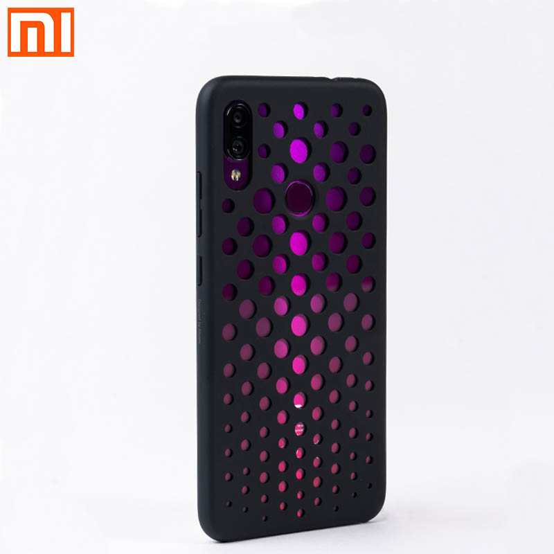 Original Xiaomi Redmi Note7 Case Official PC Anti-smashing Back Cover For 6.3 Inch MI Redmi Note 7 Smart Phone Hollow Redmi Note