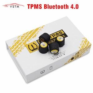 Image 1 - TPMS بلوتوث 4.0 العالمي الخارجي استشعار ضغط الإطارات دعم IOS أندرويد الهاتف مستشعر ضغط الإطار سهلة التركيب