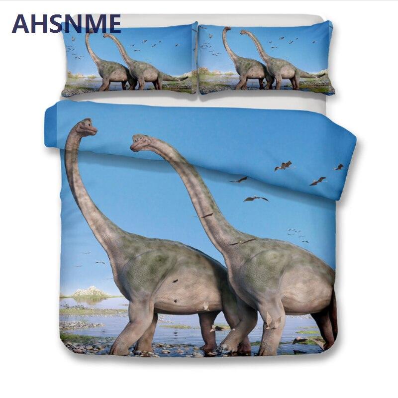 AHSNME verano venta Jurásico juego de cama de dinosaurio funda de edredón de impresión de alta definición para Australia y tamaño europeo y americano-in Juegos de ropa de cama from Hogar y Mascotas    2