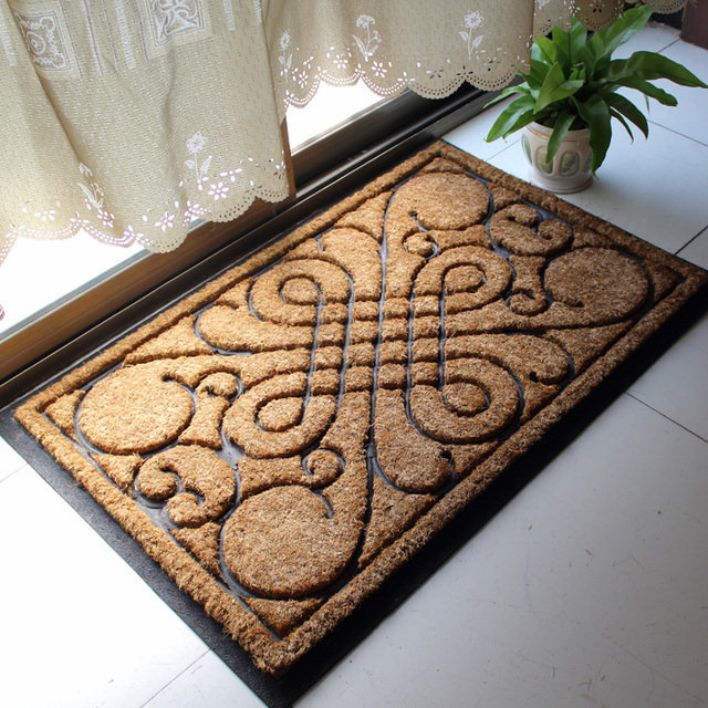 India Environmental coir doormat mat entrance foyer mats palm & India Environmental coir doormat mat entrance foyer mats palm-in Mat ...