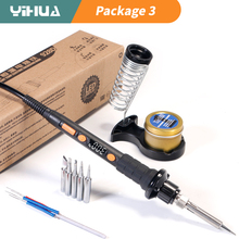 YIHUA 928D-II Soldering iron 3 LED lamps Digital Display Sleep Protection Adjustable Temperature  Electric