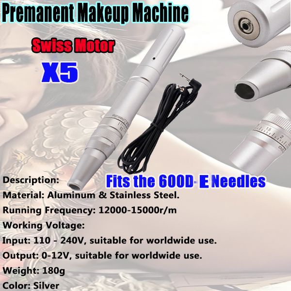 New Arrival Design X5 Pro Permanent Makeup Machine Rotary Tattoo Machine Gun with Power Cord Kits