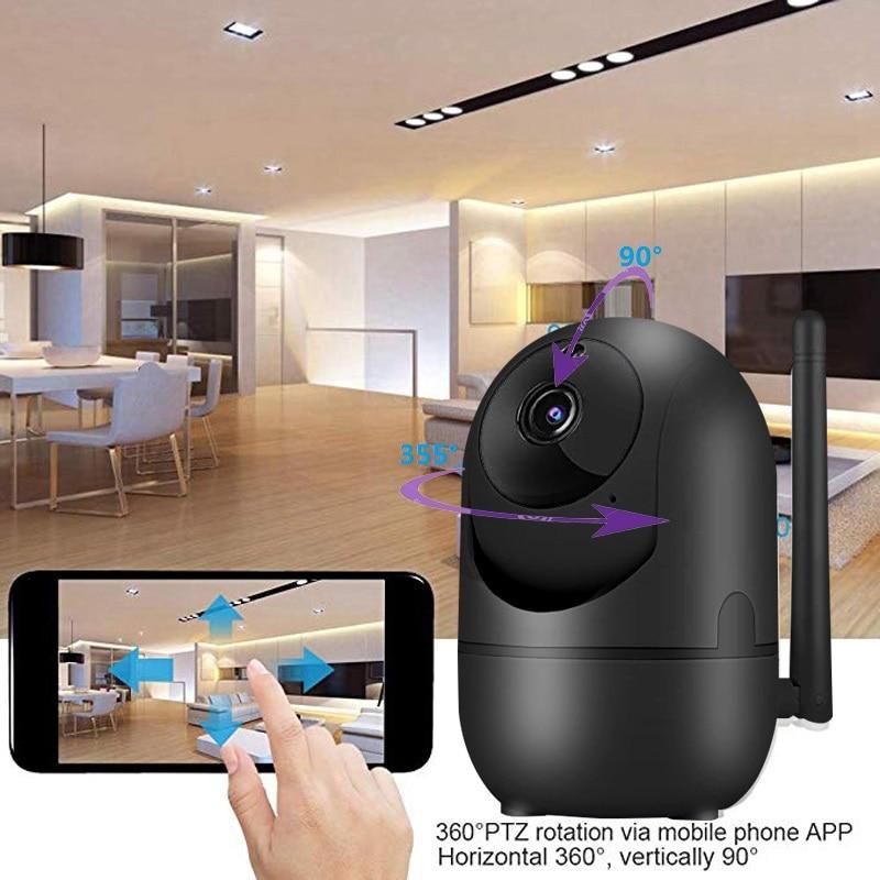 HTB1wV9Hc21G3KVjSZFkq6yK4XXaY wdskivi Auto Track 1080P IP Camera Surveillance Security Monitor WiFi Wireless Mini Smart Alarm CCTV Indoor Camera YCC365 Plus