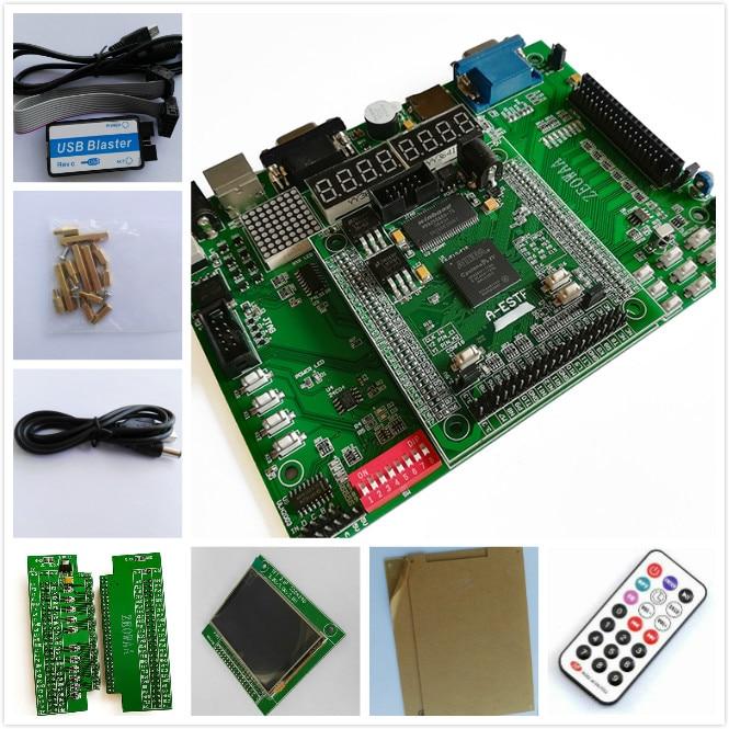 TFT 2.8 320X240+USB Blaster + altera fpga development board EP4CE10F17C8N board fpga board altera board EDA e15 altera fpga board altera board fpga development board ep4ce15f17c8n nios ii board sdram usb dc 5v power