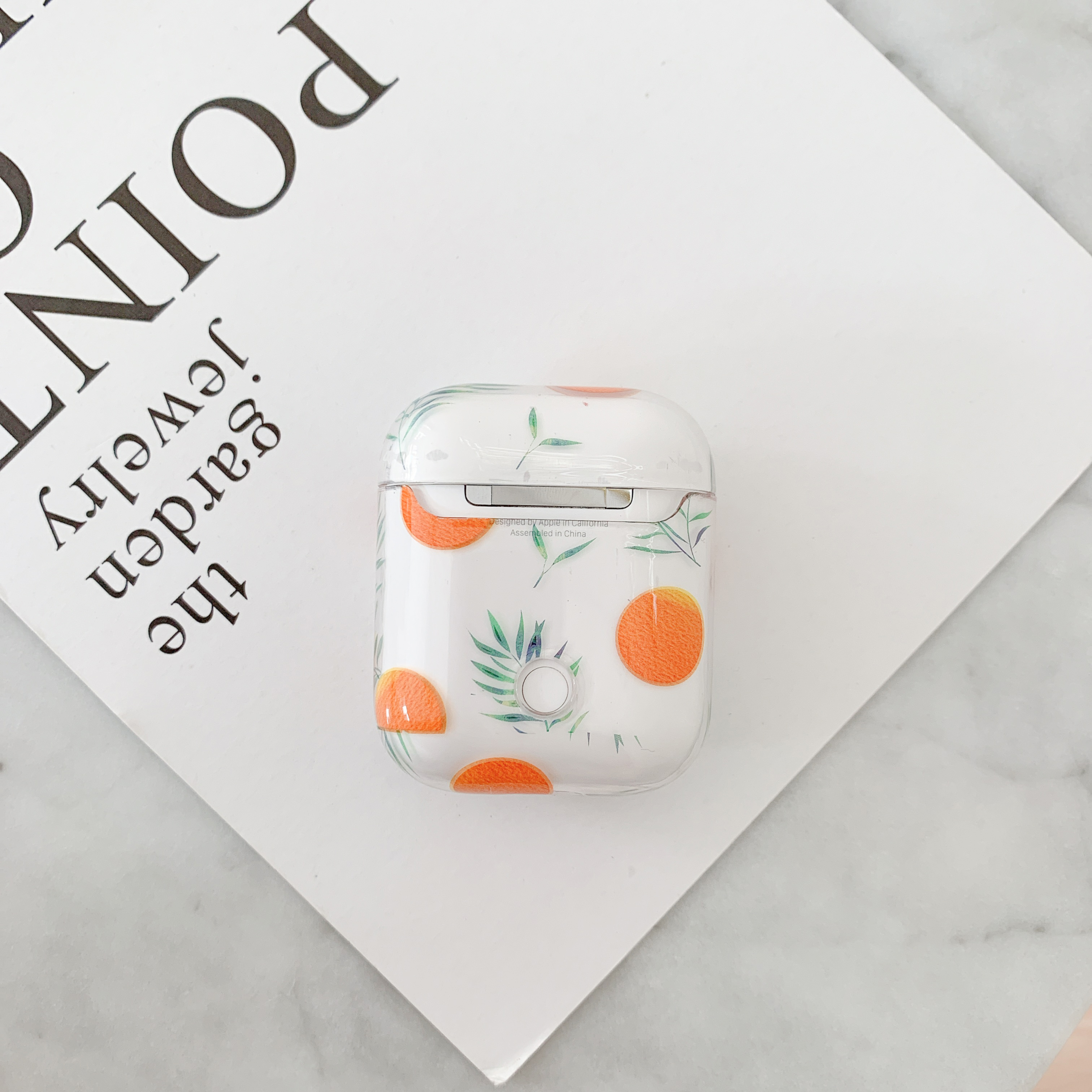 fruit Orange Transparent case for Airpods lovely gift perfect design for Apple Airpods2 bluetooth earphone case in Earphone Accessories from Consumer Electronics