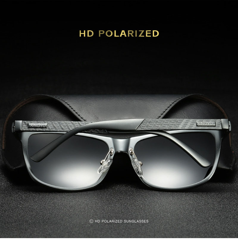 Bruno dunn Sunglasses Men Polarized 2020 Luxury Brand square metal frame male sun glasses oculos de sol masculino 2140 ray uv400 4