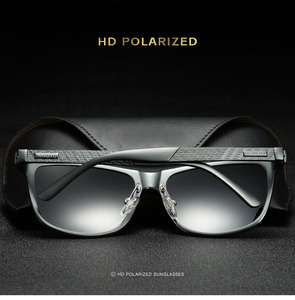 Image 4 - Bruno dunn Sunglasses Men Polarized 2020 Luxury Brand square metal frame male sun glasses oculos de sol masculino 2140 ray uv400