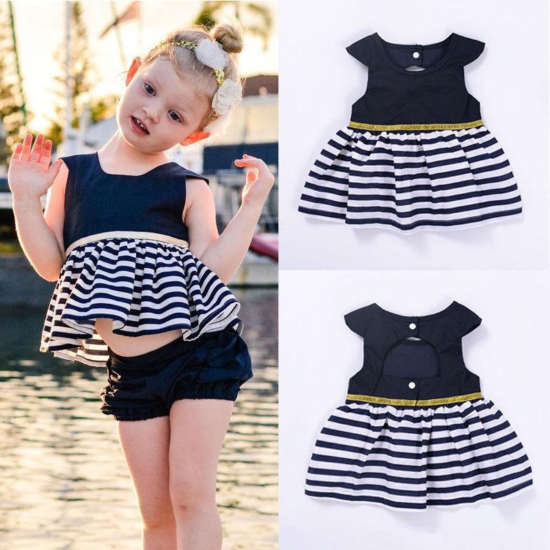 Newborn-Baby-Girls-Party-Princess-Pageant-Tutu-Dress-Kid-Toddler-Navy-Blue-Dresses-4