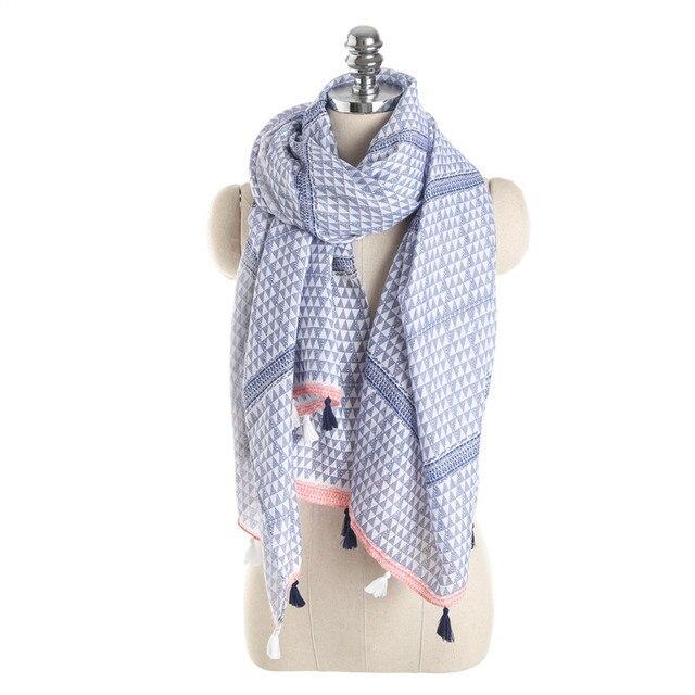 2018 nueva delgada mujeres bufandas diseñadores marca triángulo ...