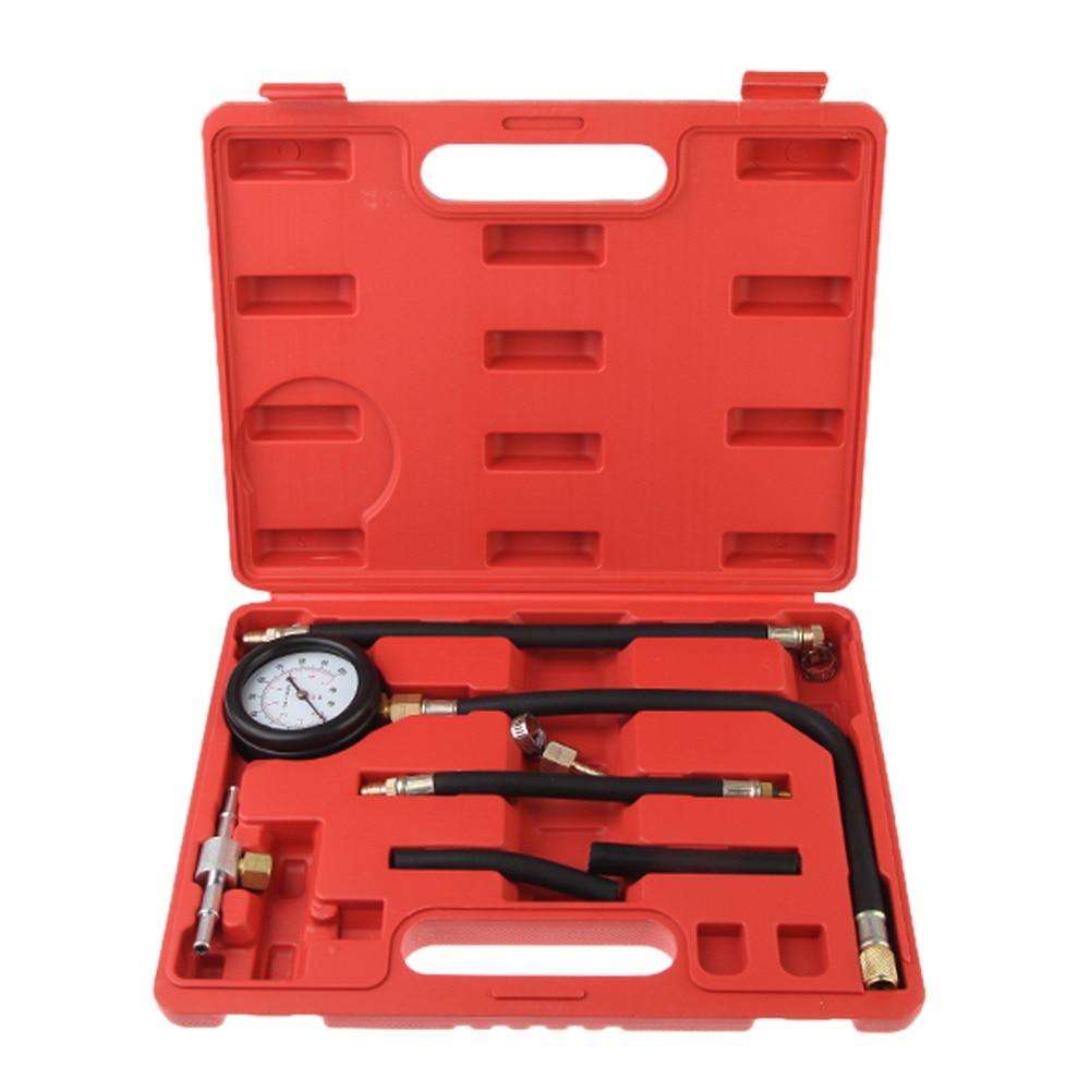 Fuel Injection Pump Pressure Tester Injector Test Pressure Gauge Set w Case Just for petrol engines