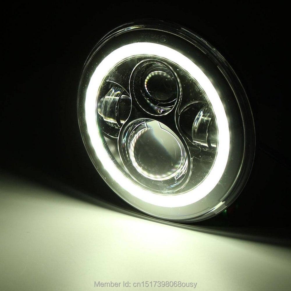 White Halo üzük Angel gözləri Jeep Wrangler yüksək / aşağı - Avtomobil işıqları - Fotoqrafiya 6