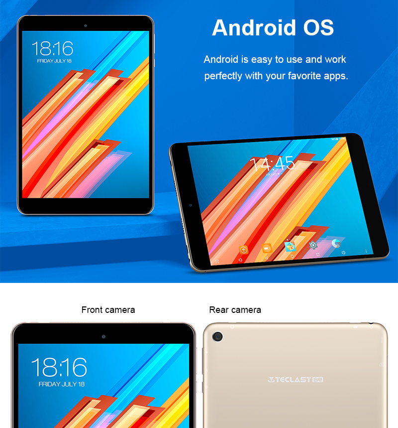 Teclast M89 Android Tablet PC 7.9 Inch 2048X1536 IPS Retina OGS PowerVR GX6250 MTK8176 Hexa-core 8.0MP 2.4G/5G WiFi 3GB RAM GPS