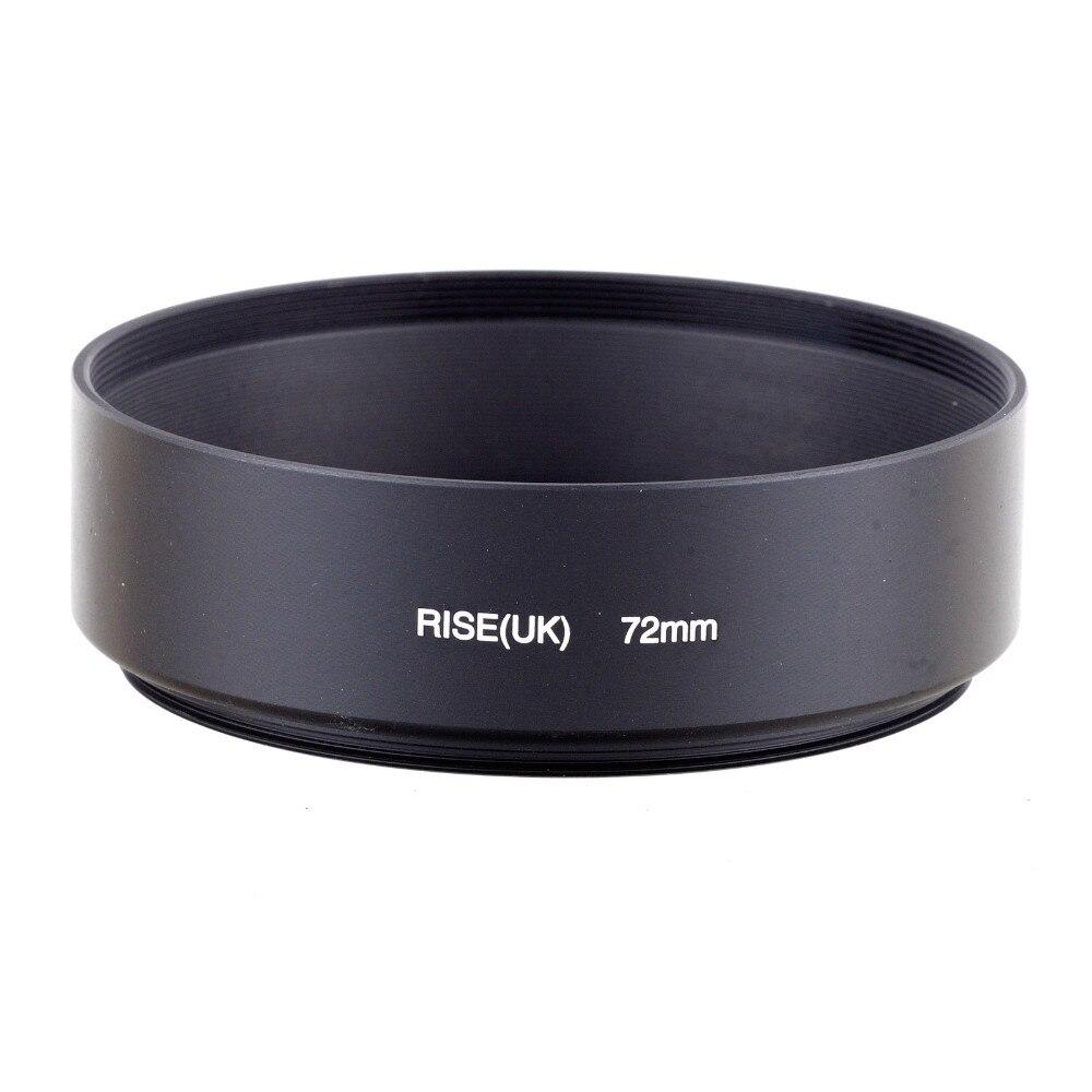 RISE (ВЕЛИКОБРИТАНИЯ) 72 мм Стандартный Винт в Metal Бленда для Canon Nikon Sony Pentax бесплатная доставка
