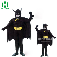 2019 New Free Shipping Cheap Superhero Capes Children Avengers Batman Costume Tights Chest Child Batman Costume Cosplay Clothes