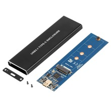 NVMe PCIE USB3.1 HDD Enclosure M.2 to USB SSD Hard Disk Drive Case Type C 3.1 M KEY Connector Enclosure цена и фото