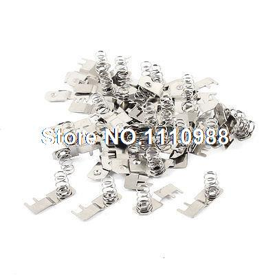 30 Pcs Metal AAA Batteries Spring Lamination Contact Plate