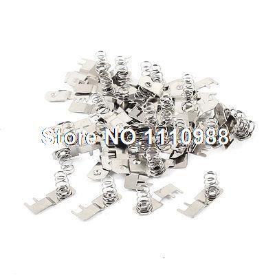 30 Pcs Metal AAA Batteries Spring Lamination Contact Plate tmmo 1 5v aaa carbon zinc batteries 40 pcs